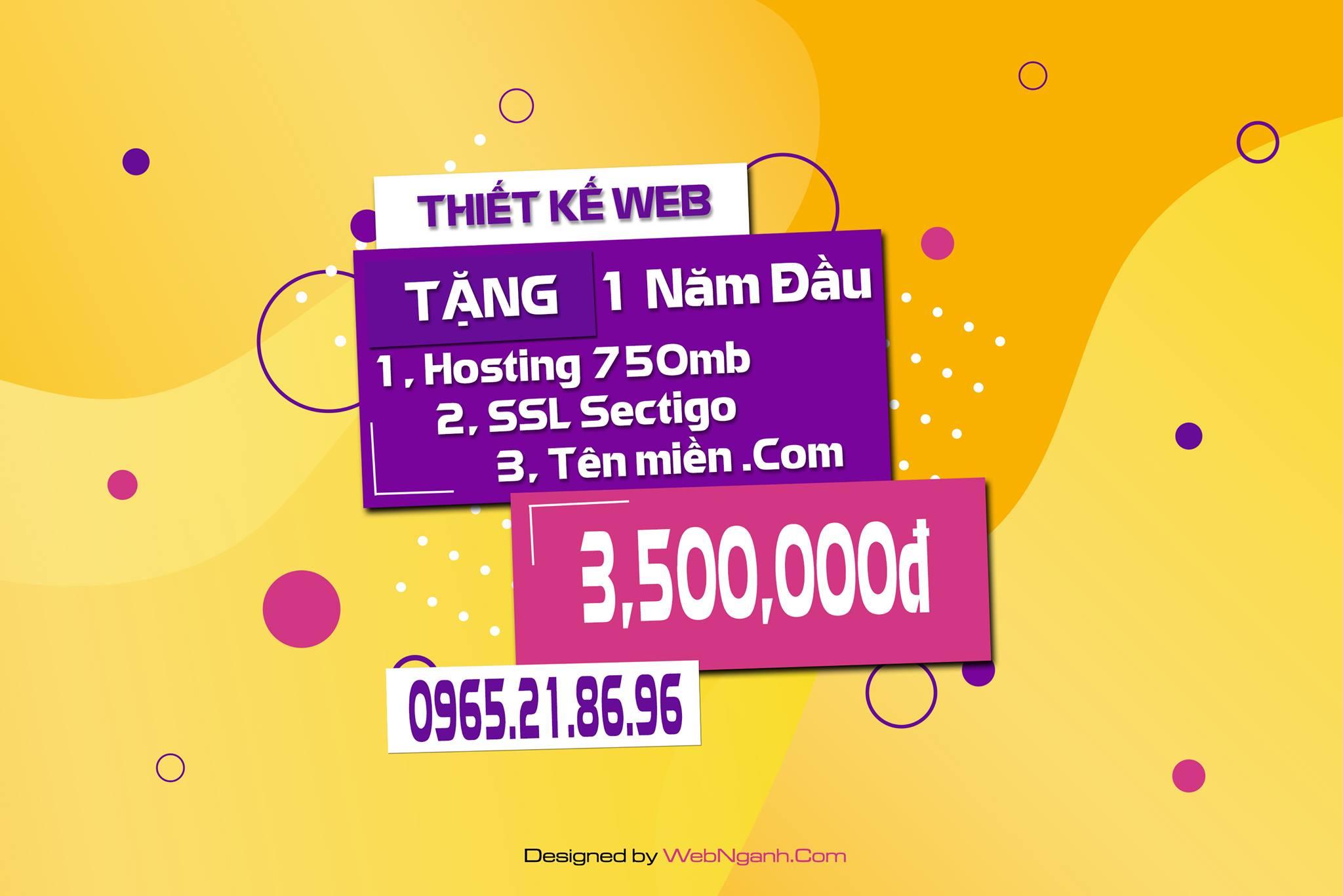 Thiết kế web tặng tên miền và hosting – SSL